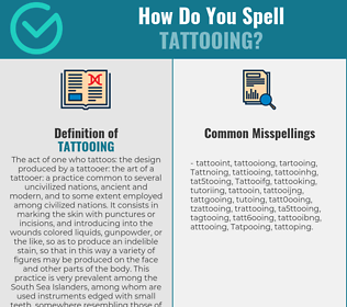 Correct spelling for Tattooing