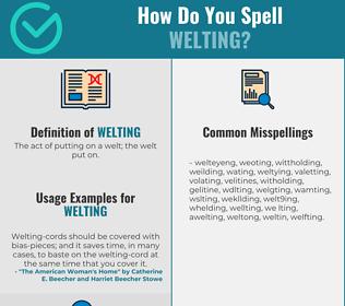 Correct spelling for Welting