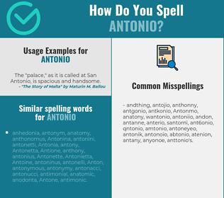 Correct spelling for Antonio