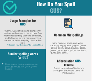 Correct spelling for Gus