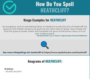 Correct spelling for Heathcliff
