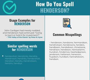 Correct spelling for Henderson