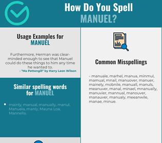 Correct spelling for Manuel