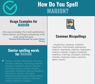 Correct spelling for Marion