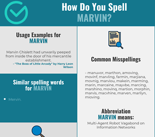Correct spelling for Marvin
