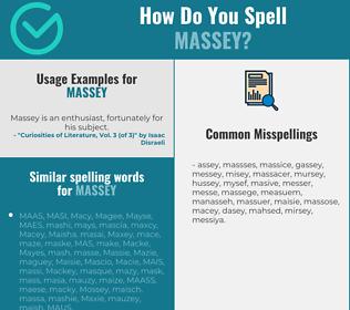 Correct spelling for Massey
