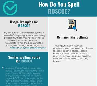 Correct spelling for Roscoe
