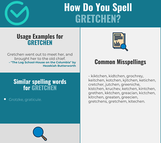 Correct spelling for Gretchen