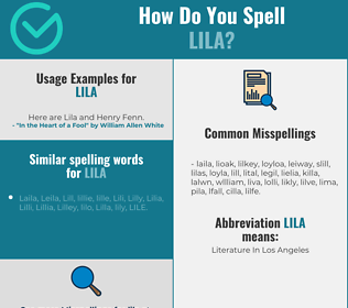 Correct spelling for Lila