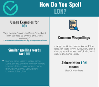 Correct spelling for Lon