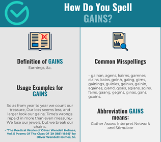 Correct spelling for Gains
