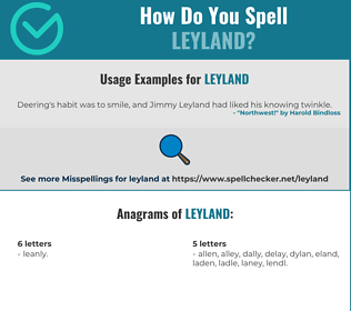 Correct spelling for Leyland