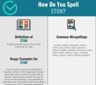 Correct spelling for Eton