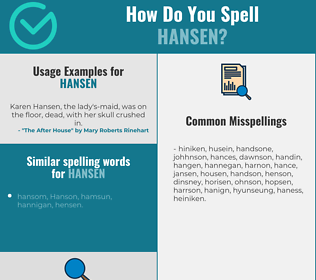 Correct spelling for Hansen
