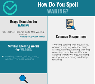 Correct spelling for Waring