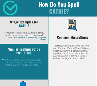 Correct spelling for Cathie