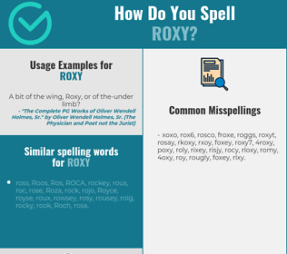 Correct spelling for Roxy