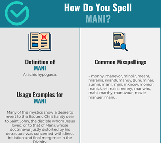 Correct spelling for Mani