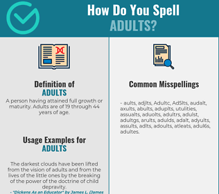 Correct spelling for Adults