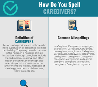 Correct spelling for Caregivers