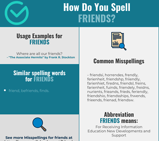 Correct spelling for Friends