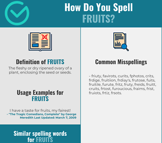 Correct spelling for Fruits