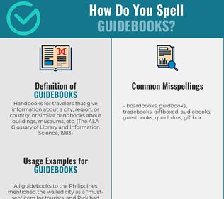 Correct spelling for Guidebooks