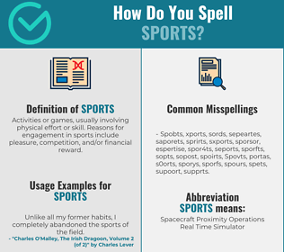 Correct spelling for Sports