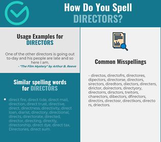 Correct spelling for directors