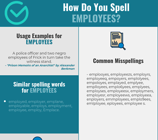 Correct spelling for employees