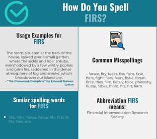 Correct spelling for firs