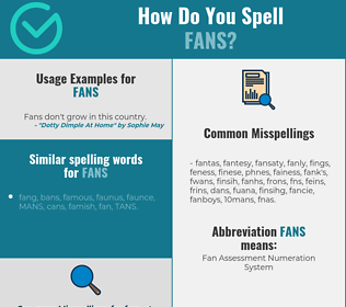 Correct spelling for fans