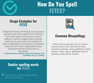 Correct spelling for fetes