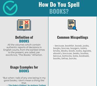 Correct spelling for books