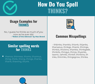 Correct spelling for thinks
