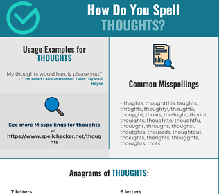 Correct spelling for thoughts