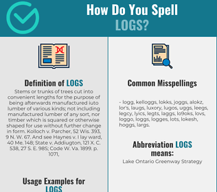 Correct spelling for logs