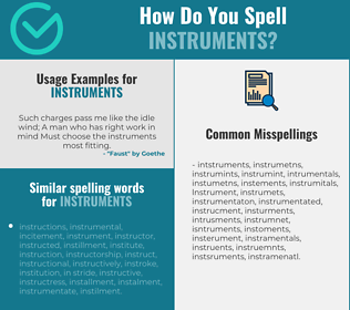 Correct spelling for instruments
