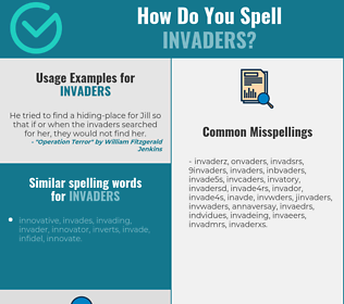 Correct spelling for invaders