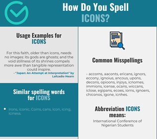 Correct spelling for icons