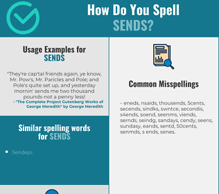 Correct spelling for sends