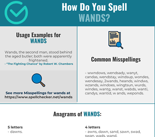 Correct spelling for wands