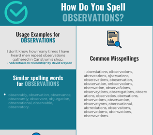 Correct spelling for observations