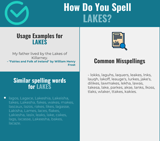 Correct spelling for lakes