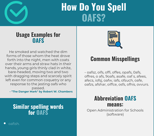 Correct spelling for oafs