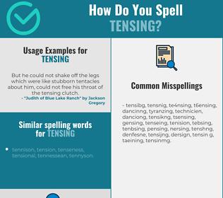 Correct spelling for tensing
