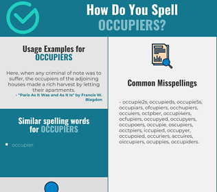 Correct spelling for occupiers