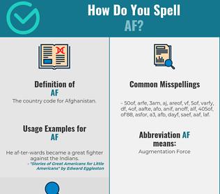 Correct spelling for AF