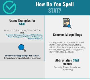 Correct spelling for STAT