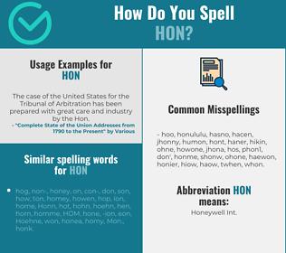 Correct spelling for HON